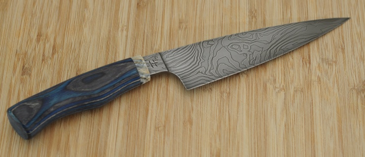 20181006_Kitchenknife_DamascusMolarWood_Back